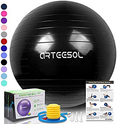 Amazon.com: arteesol Exercise Yoga Ball, Extra Thick ...