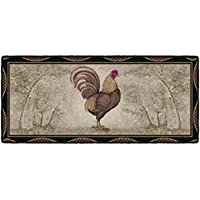 Brumlow Mills Tall Rooster Kitchen Rug, 20-Inch by 44-Inch, Brick