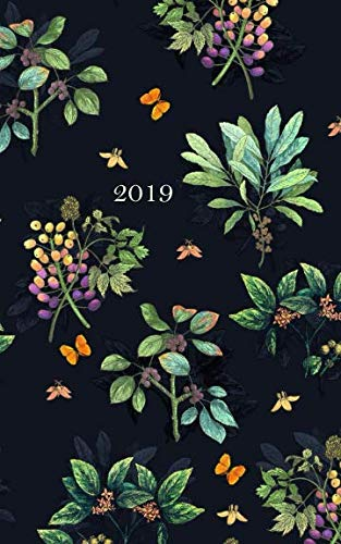 2019: Modern Botanical Design - Monthly Planner for 2019 (also Dec 2018) with yearly overviews, monthly calendars, schedule, note and list sections to simply organize your days (Monday start week)