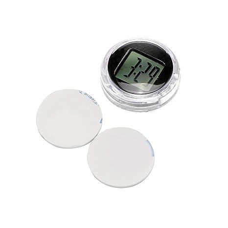 Moto Reloj Moto Reloj Konesky Mini Pocket Universal Stick-On Reloj Moto Digital con Función