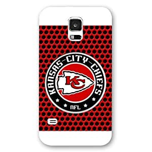 UniqueBox Customized NFL Series Case for Samsung Galaxy S5, NFL Team Kansas City Chiefs Logo Samsung Galaxy S5 Case, Only Fit for Samsung Galaxy S5 (White Frosted Shell)