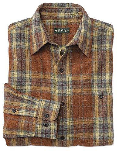Orvis Marled Autumn Plaid Shirt, Large (Tonal Plaid Shirt)