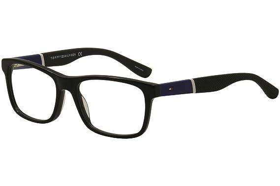 Tommy Hilfiger 1282 Eyeglasses 0FMV Black Blue 52 mm at Amazon Men\'s ...