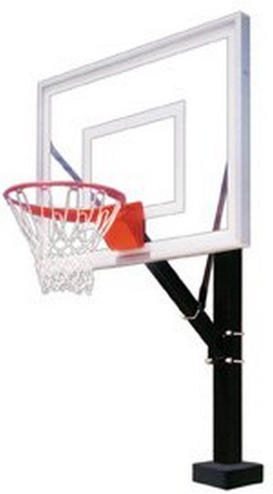 最初チームHydrosport IIステンレスsteel-acrylic固定プールサイドバスケットボールsystem44 ;フォレストグリーン B01HC0CGQ6