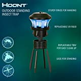Hoont Indoor Outdoor 3-Way Mosquito and Fly Trap Killer with Stand - Bright UV Light, Fan & Attractant / Get Rid of All Mosquitoes, Wasps, Etc. – Perfect for Gardens, Yards, Patio, etc. [UPGRADED]