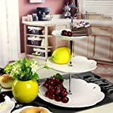 """display083Tier hardware corona Cake Plate soporte mango boda parte decoración de la mesa, acero inoxidable, plata, 3.82"""""""