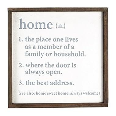 Mud Pie Home Definition Plaque