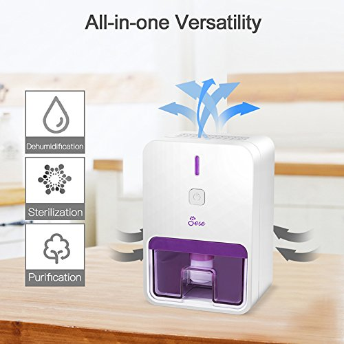 Basement Bathroom RV Trailer Jese Small Dehumidifier for Bedroom Closet 18oz Electric Quiet Mini Room Dehumidifier for 150-220 sq.ft Auto-Off Safe Dehumidifier for Kitchen