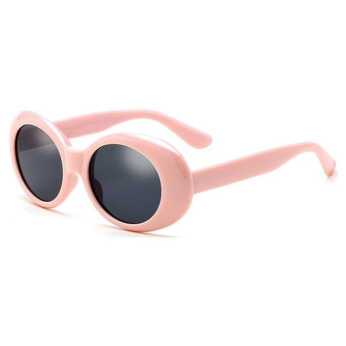 Deylay Oval Occhiali da sole Uomo Donna Retro Style Rotondo Glasses Color 2 7qLTf