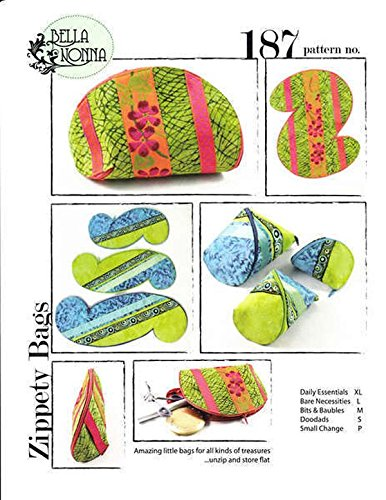 Zipper Bag Pattern (Zippety Bags: A Sewing Pattern for Amazing Little Bags That Unzip and Store)
