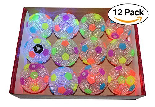 Soccer / Spiky Massage Light Up LED Flashing Rubber 3