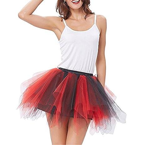 Imixshop Women's Classic Layered Tutu Tulle Skirt Mini A-Line Party Petticoat
