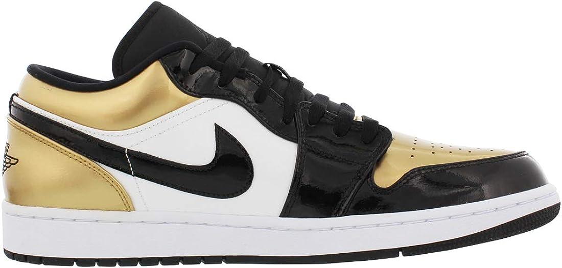 black and gold jordans low top
