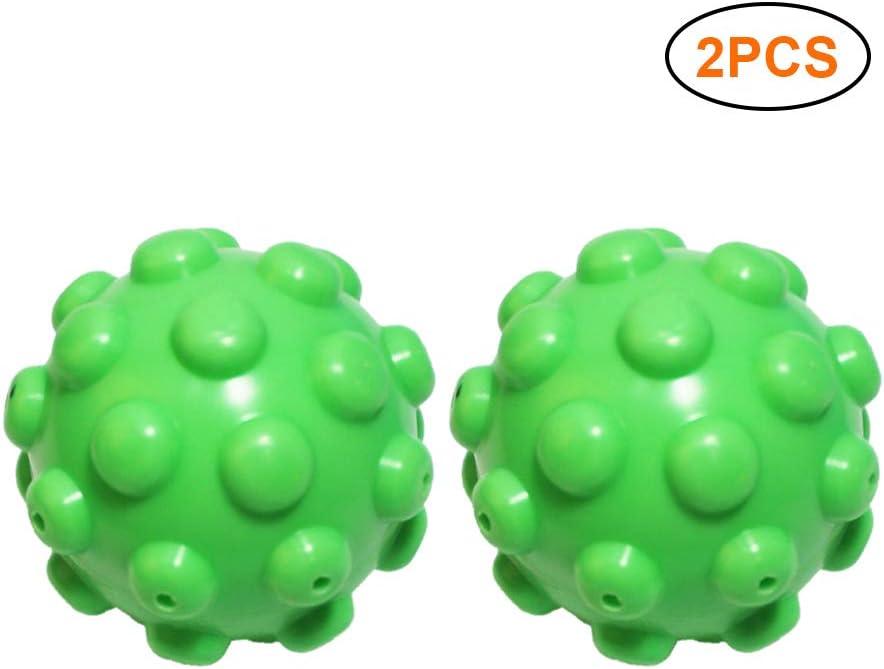 BSMEAN 2 Piezas de Bolas de Secadora Bolas de Secadora Reutilizables Bolas de Secadora de Ropa Bolas de Lavado Bolas de Suavizante de Tela para Lavadora de Ropa