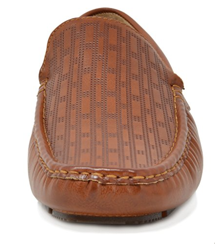 Bruno Marc Men's PHILIPE-02 Tan Penny Loafers Moccasins Shoes Size 12 M US