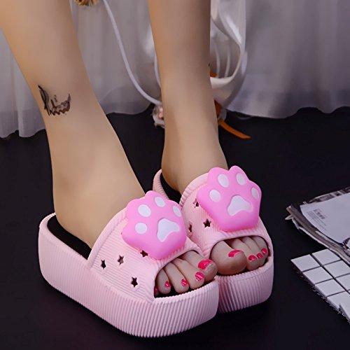 estate donna tacco antiscivolo pantofole alto fresca spessa pantofole Cartoon bagno 38 carino suite en fankou pantofole rosa 5STfqXcnf