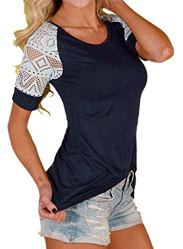 FARYSAYS Womens T shirt Shoulder X Large