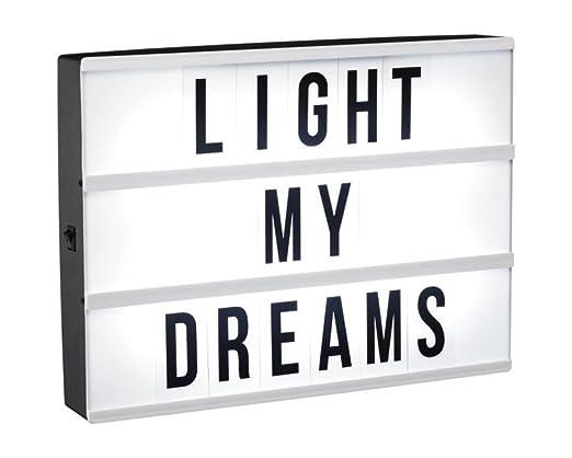 Cartel luminoso caja de luz led mensajes personalizados 60 ...