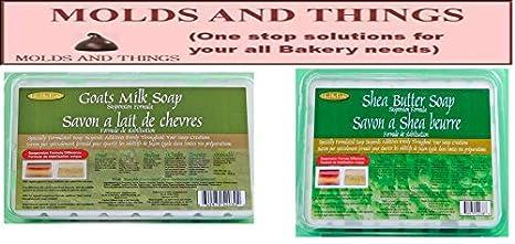 4 Lb. Pack de la leche de cabra jabón base, manteca de karité Jabón Suspensión bases derretir y verter: Amazon.es: Juguetes y juegos