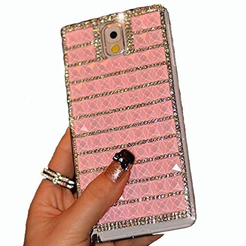 BlingDevil Cases® DIY Crystal Rhinstone Glitter Handmade Royal Elegant Pink Case Cover for Samsung Galaxy S6 Edge