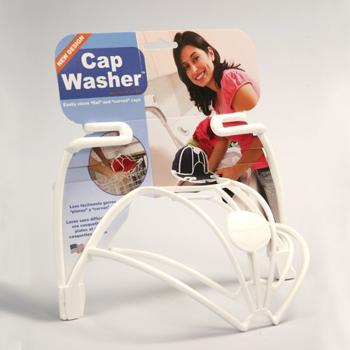 Perfect Curve Cap Washer (White) - Hat and Visor Cleaning Rack