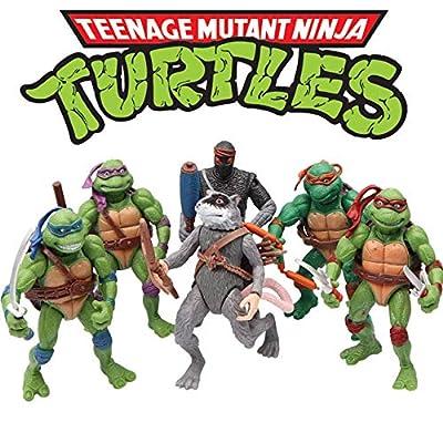 Ninja Turtles 6 PCS Set - Teenage Mutant Ninja Turtles Action Figure - TMNT Action Figures - Ninja Turtles Toy Set - Ninja Turtles Action Figures Mutant Teenage Set
