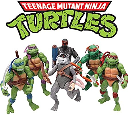 Ninja Turtles 6 PCS Set - Teenage Mutant Ninja Turtles Action Figure - TMNT Action Figures - Ninja Turtles Toy Set - Ninja Turtles Action Figures ...