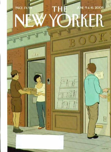 New Yorker cover Tomine Amazon delivers book next to bookshop! 6/9 6/16 2008