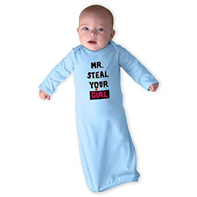 3c47d8743b19 Amazon.com  Mr. Steal Your Girl Boys-Girls Cotton Newborn Sleeping Gown One  Piece  Clothing