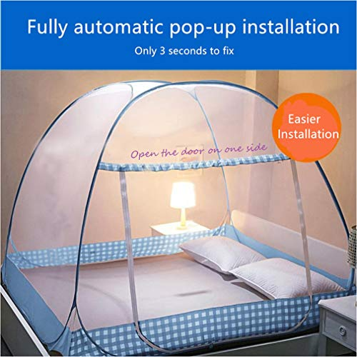 New Portable Mosquito Net,Tinyuet Brown Folding Pop-Up Mosquito Net Tent Canopy Curtains for Beds Canopy Trip Insect Fly Screen Bedroom Mosquito Netting Brown, 200x150x150CM