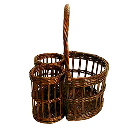 Wicker Basket (Set of 10) 12 x 10.98 x 7.1 in by suppliesforgiftbasket