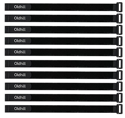 Oldhill Hook and Loop Cinch Straps Adjustable and Reusable - 10 Pack (24