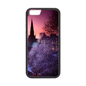 [City Night Series] IPhone 6 Cases City Winter 2, Case for Iphone 6 4.7 Luxury Nuktoe - Black