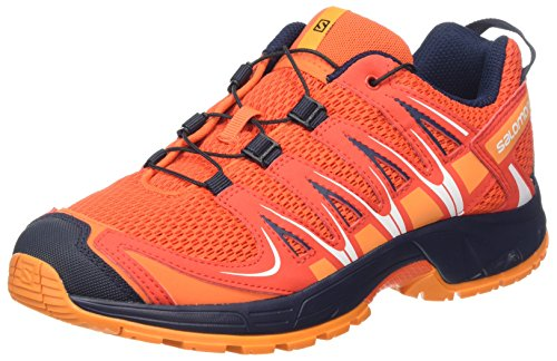 Salomon Unisex-Kids XA Pro 3D J Trail Running Shoe, Scarlet Ibis, 6 M US Big Kid Salomon Kids Xa Pro Shoe