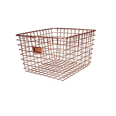 Spectrum Diversified 47979 Storage Basket, Medium, Copper