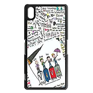 Britpop/Alternative Rock Band Coldplay Perfect Cover Shell Unique Comic Character Viva Rock Music Band Coldplay Phone Case Cover for Sony Xperia Z2