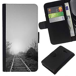 All Phone Most Case / Oferta Especial Cáscara Funda de cuero Monedero Cubierta de proteccion Caso / Wallet Case for Sony Xperia M2 // Nature Beautiful Forrest Green 119