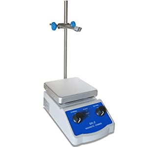 Magnetic Stirrer Hot Plate Mixer and Lab Hot Plate,100-1600RPM,Max 380°C,Dual Control,for Lab Liquid Mixing Heating SH-2