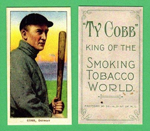 Ty Cobb 1909 T206 ***Bat off Shoulder**Baseball Reprint Card with Cobb Back (Detroit)