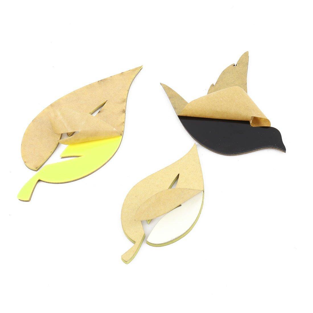 eDealMax acrílico decoración del sitio de la foto del árbol Diseño auto-adhesivo del papel pintado 3D etiqueta de la pared amarilla - - Amazon.com