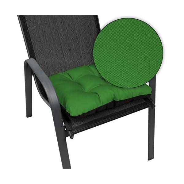 SuperKissen24. Coussin pour Chaise, Siège, Banc de Jardin, Canapé – Lot de 8 Coussins 45×45 cm – Bain de Soleil…