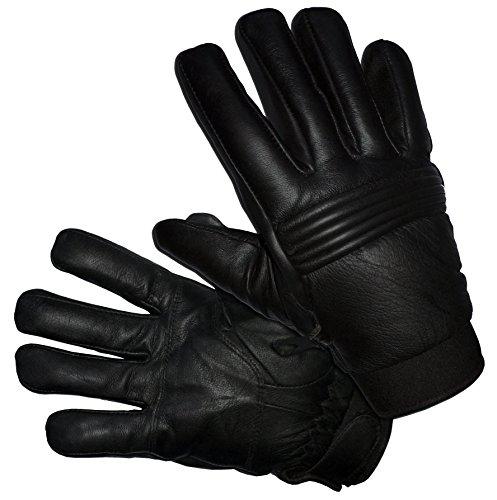 Schwarze mit Fell Gefütterte Lederhandschuhe Von Blok-IT - Halten Sie Ihre Hände Mit Diesen Stilvollen und Bequemen Winterhandschuhen Warm (Schwarz, XL)