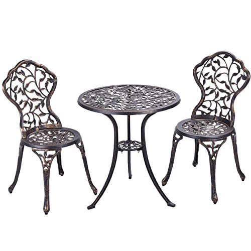 Garden Outdoor Furniture Patio Set Table Chairs Lounge Aluminum - 2 Door Painted Armoire