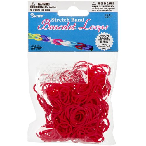 (Darice 312-Piece Stretch Band Bracelet Loops and S-Clips Set,)