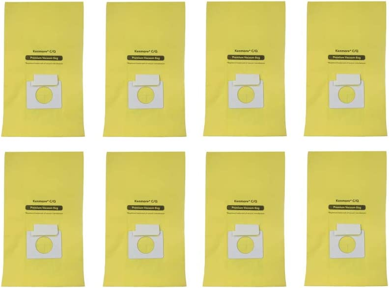 EFP Vacuum Bags fit Kenmore Canister Q C, 5055, 50555, 50557, 50558, and Panasonic Type C-5 Canister Vacuum - 8 Bags