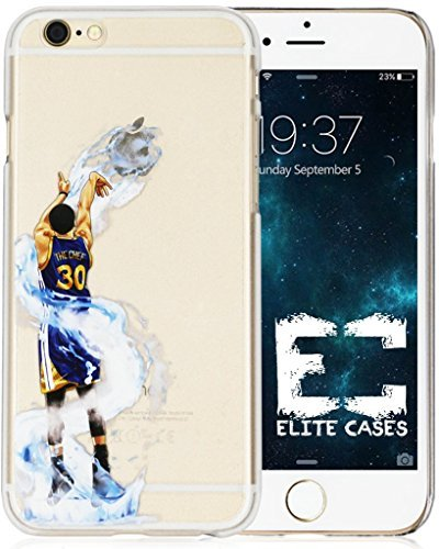 Elite Phone Covers - iPhone 6/6s Case, Elite_Cases Ultra Slim Transparent [NBA Player] Hard Case Cover for Apple iPhone 6 / iPhone 6s (4.7) - Splash Curry