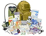 Lightning X Stocked Modular Trauma Bleeding Kit - Responder Medical Backpack + Hydration - TAN
