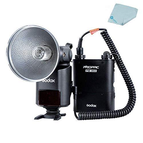 Godox AD-360 Bare Tube Flash Speedlite + PB960 Battery Power Pack Black +Mcoplus Cloth
