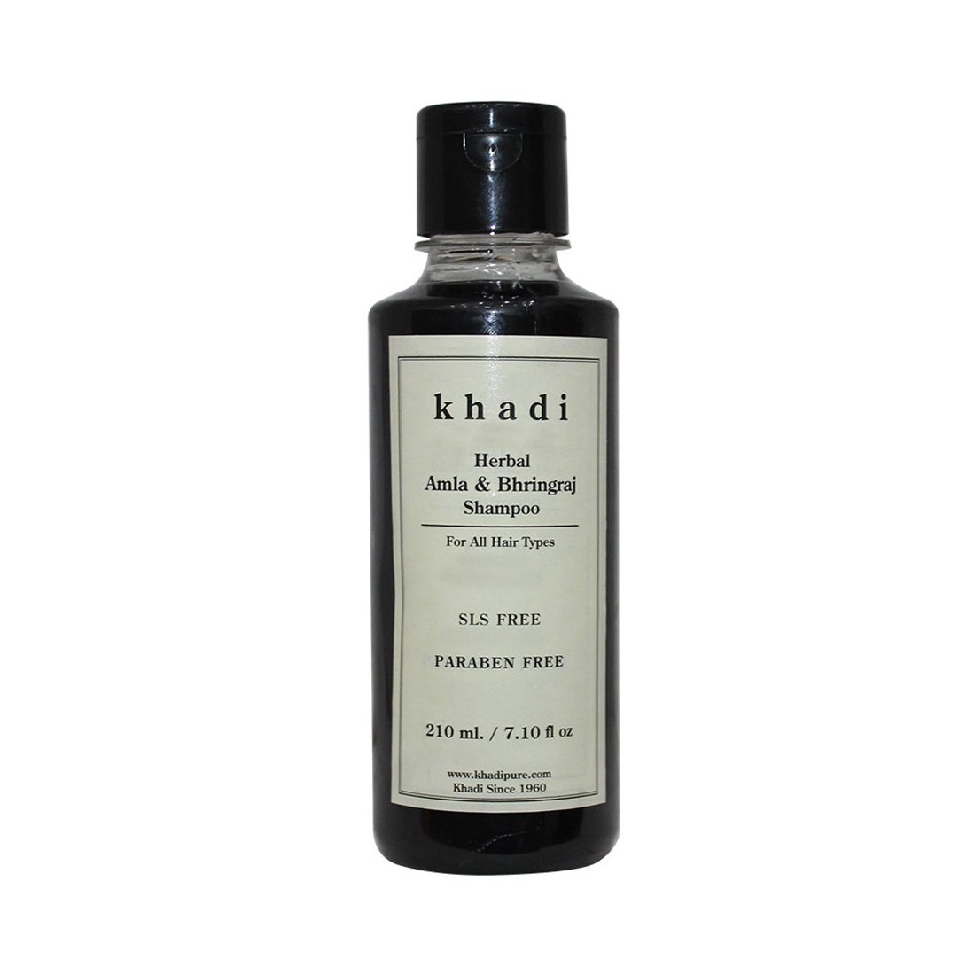 Khadi Natural Herbal Ayurvedic Amla and Bhringraj Hair Cleanser and Shampoo for all Hair Types SLS and Paraben Free (210 ml)