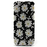 Iphone 5c Case, JAHOLAN White Daisy Chrysanthemum Clear Bumper TPU Soft Case Rubber Silicone Skin Cover for iphone 5c